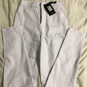 Fashion Nova Jeans - NWT Fashion Nova white high waist skinny jeans